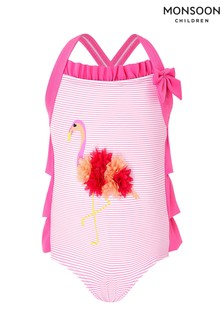 Monsoon Children Pink Baby Flamingo Swimsuit