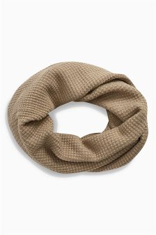 Textured Knit Double Wrap Snood