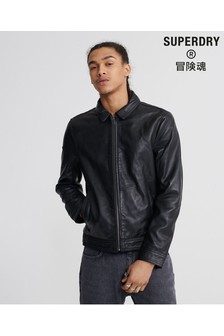 Superdry Black Light Leather Jacket