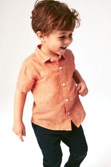 Short Sleeve Linen Mix Shirt (3mths-7yrs)