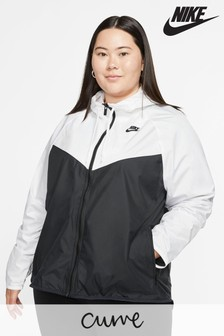 Nike Curve White/Black Wind Runner Jacket