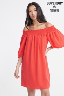 Superdry Desert Off Shoulder Dress
