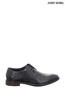 Josef Seibel Black Jonathan Lace-Up Shoes