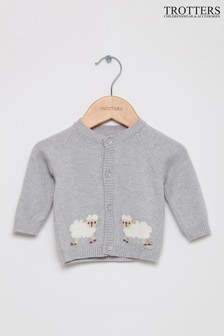 Trotters London Grey Sheep Cardigan