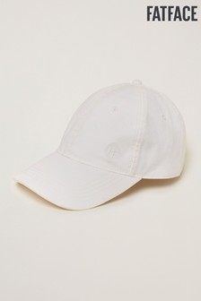FatFace White Plain Baseball Cap