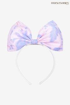 Hucklebones Purple Floral Bow Hairband
