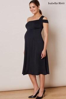 Isabella Oliver Black Alanya Maternity Dress