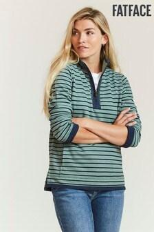 FatFace Green Airlie Stripe Sweatshirt