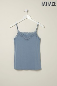 FatFace Blue V-Neck Lace Vest