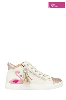 Joules Pink Junior Runaround High Top Trainers