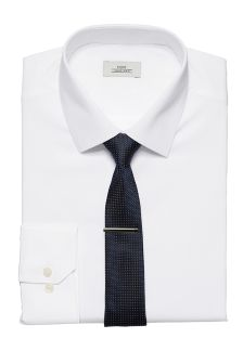 Regular Fit Shirt With Tie And Tie Clip Set