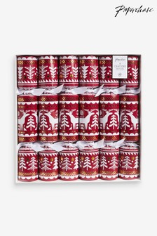 6 Pack Paperchase Scandi Crackers