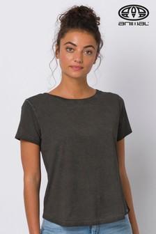 Animal Black Olive Cut Out Back T-Shirt