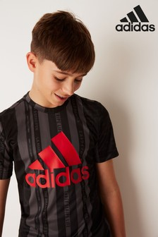 adidas Performance Black/Red Training T-Shirt