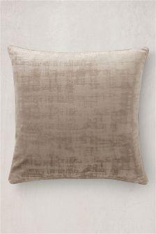 Distress Soft Velour Cushion