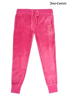 Juicy Couture Pink Velour Joggers