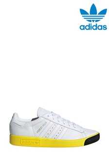 adidas Originals White/Yellow Forest Hill Trainers