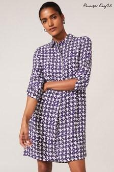 Phase Eight Purple Ikat Shirt Dress