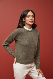 Lofty Pie Crust Collar Jumper
