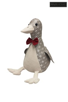 Jacquard Duck Doorstop by Riva Home