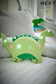 Green Light Up Dinosaur Cushion
