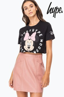 Hype. Disney™ Minnie Cog Women's Crop T-Shirt