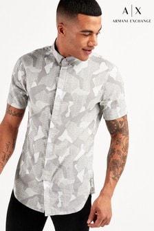 Armani Exchange Camo Short Sleeve Shirt