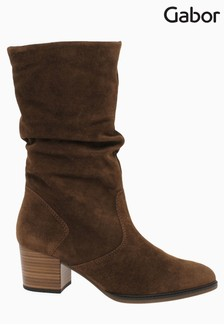Gabor Ramona Whisky Suede Calf Length Fashion Boots