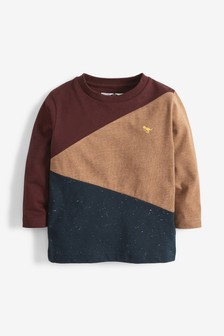 Long Sleeve Colourblock T-Shirt (3mths-7yrs)
