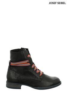 Josef Seibel Black Sanja Leather Ankle Boots
