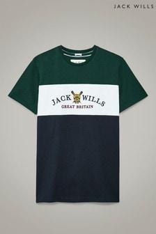 Jack Wills Navy Abbotsford Cut And Sew T-Shirt