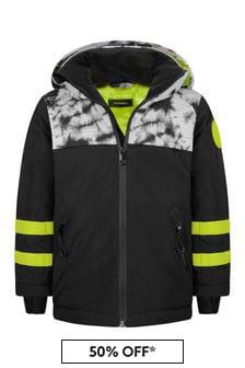 Diesel Boys Black Tie Dye Ski Jacket