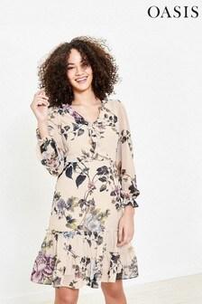 Oasis Natural Floral Skater Dress