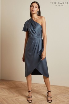 Ted Baker Grey One Shoulder Dress