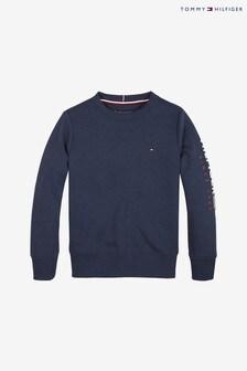 Tommy Hilfiger Boys Blue Flags Sleeve Sweatshirt