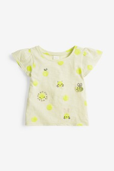 Embroidered Fluro T-Shirt (3mths-7yrs)