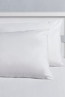2 Pack Easy Care Plain Dye Pillowcases