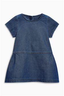 Denim Short Sleeve Dress (3mths-6yrs)