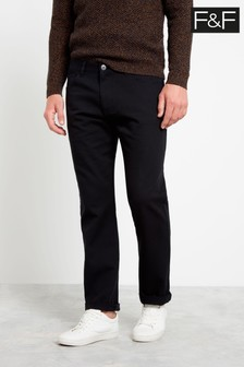 F&F Black Core Twill Skinny Trousers