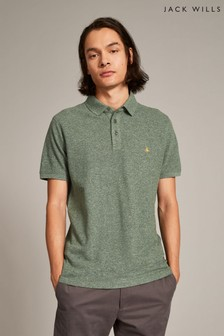 Jack Wills Dark Green Morley Jaspe Pique Polo