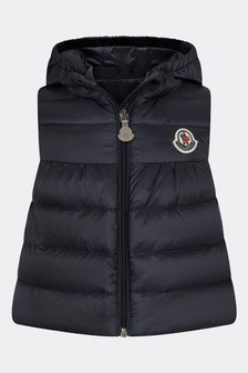 Moncler Baby Girls Navy New Suzette Gilet