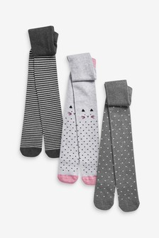 3 Pack Mono Character Tights