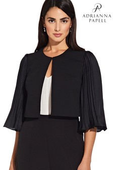 Adrianna Papell Black Pleated Jacket
