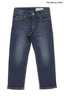 Polarn O. Pyret Blue Bci Cotton Regular Fit Jeans