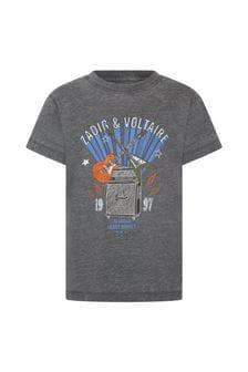 Zadig & Voltaire Blue Cotton T-Shirt