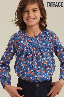 FatFace Blue Bee Print Blouse