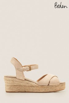 Boden Natural Jasmine Espadrille Wedges