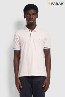 Farah Pink Wade Pique Poloshirt