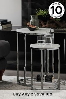 Mode White Gloss Nest of Tables