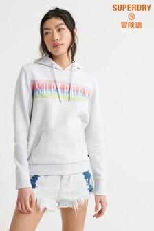 Superdry Grey Rainbow Overhead Hoody